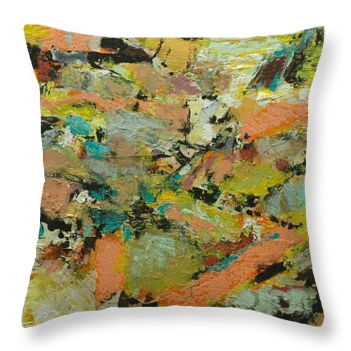 Landscape Throw Pillow featuring the painting Fire Bird by Allan P Friedlander