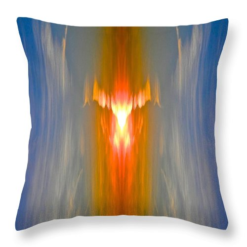 Abstract Throw Pillow featuring the photograph Fire Bird by Joe Wyman