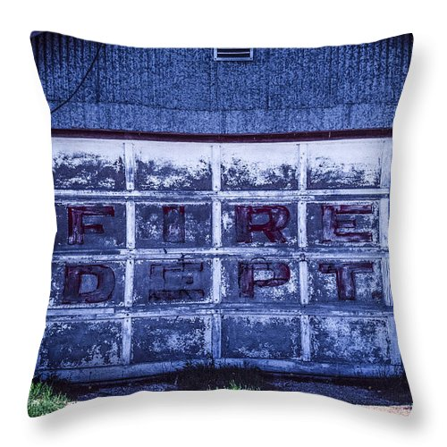 Throw Pillow featuring the photograph Fire Dept by Jonathan Clarke