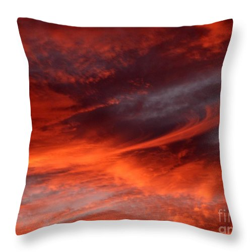 Sunset Throw Pillow featuring the photograph Fire in the Sky by Julia Walsh