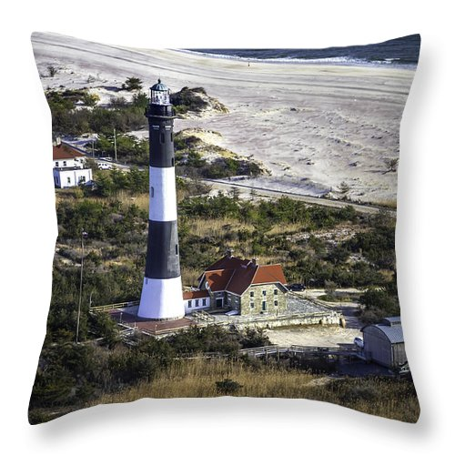 Long Island Throw Pillow featuring the photograph Fire Island Lighthouse 2 4389 by Karen Celella