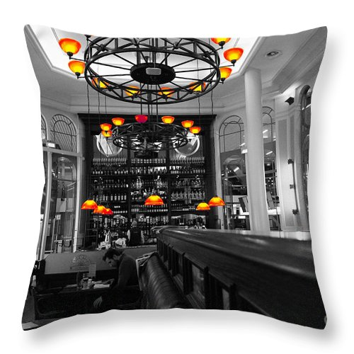 Lamps Throw Pillow featuring the photograph Fire Lamps by Four Hands Art