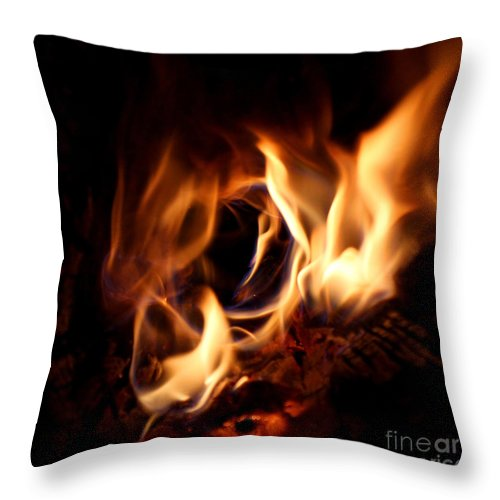 Fire Throw Pillow featuring the photograph Fire Portal by Adam Long
