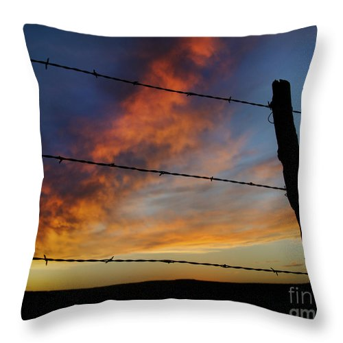 Ryan Smith Throw Pillow featuring the photograph Fire In The Sky by Ryan Smith