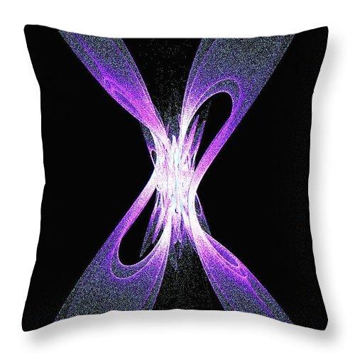 Digital Art Throw Pillow featuring the digital art Firefly Fantasy by Gail Matthews