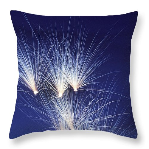 Fireworks Throw Pillow featuring the photograph Fireworks by F Stuart Westmorland