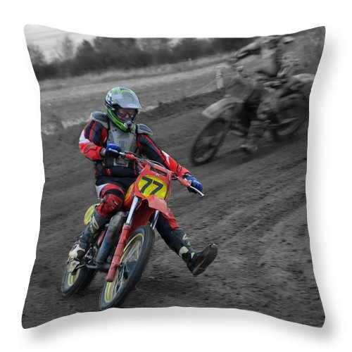 First Throw Pillow featuring the photograph first bend EVER by Clive Beake