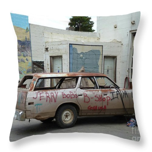 Landscape Throw Pillow featuring the photograph First Or Last by Lauren Leigh Hunter Fine Art Photography