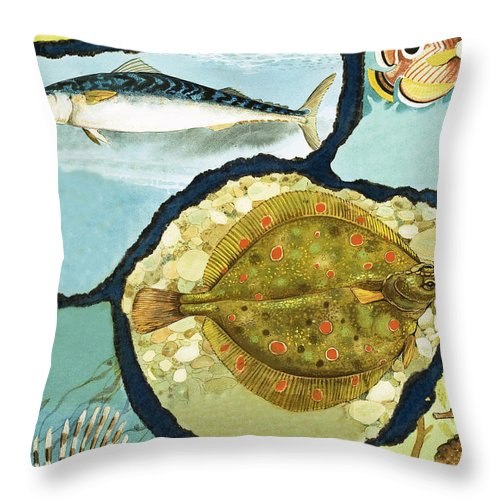 Fish Throw Pillow For Sale By English School