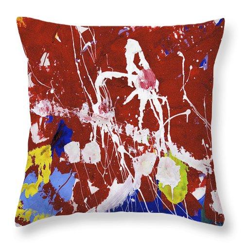 Water Paint Throw Pillow featuring the photograph Fish Hook by Richard J Cassato