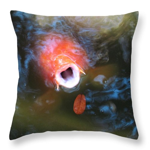 Photography Throw Pillow featuring the photograph Fish Mouth by Debra Hurd
