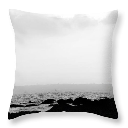 Fishing Throw Pillow featuring the photograph Fishing by Dattaram Gawade