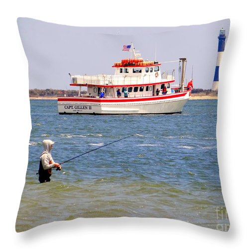 Nature Throw Pillow featuring the photograph Fishing Fantasy by Ed Weidman