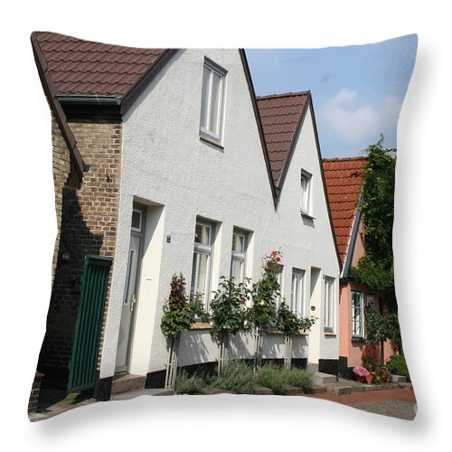 Fishingvillage Throw Pillow featuring the photograph Fishingvillage Holm by Christiane Schulze Art And Photography
