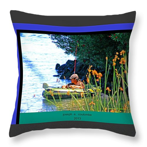 Tube Fishing Throw Pillow featuring the photograph Fishn My Way by Joseph Coulombe