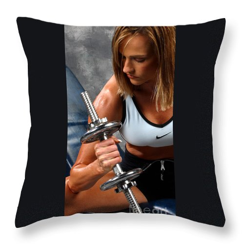 Model Throw Pillow featuring the photograph Fitness 26-2 by Gary Gingrich Galleries