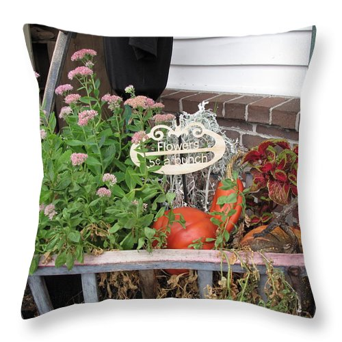 Antique Throw Pillow featuring the photograph Five Cents A Bunch by Barbara McDevitt