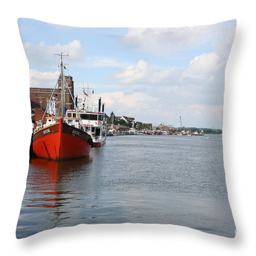 Fjord Throw Pillow featuring the photograph Fjord Schlei - Kappeln by Christiane Schulze Art And Photography
