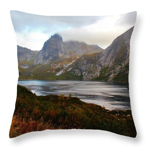 Norway Throw Pillow featuring the photograph Fjordland Autumn by David Broome