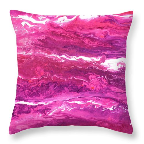 Flamingo Throw Pillow featuring the painting Flamingo by Lisa Frances Judd