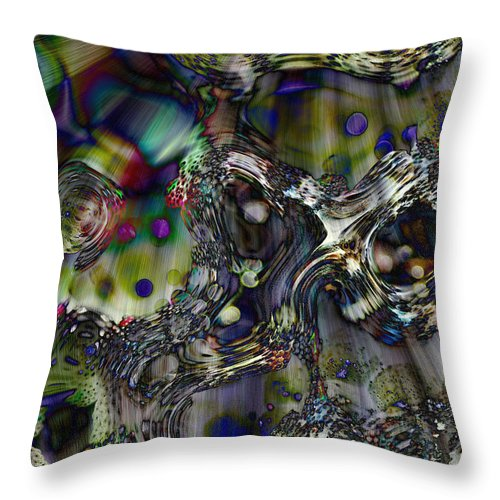 Abstract Throw Pillow featuring the digital art Flash Descent by Richard Thomas