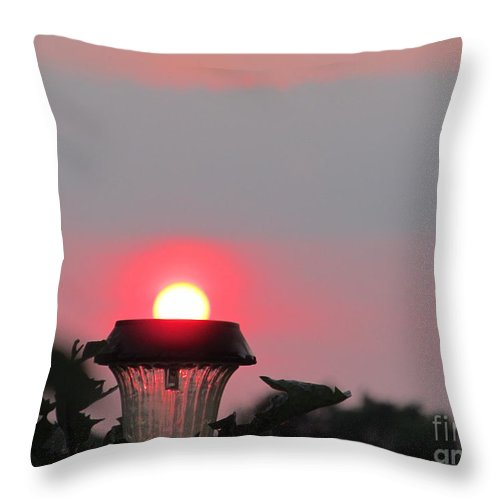 Sun Throw Pillow featuring the photograph Flashlight Sunset by Tina M Wenger