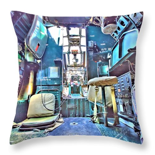 9264 Throw Pillow featuring the photograph Flight Deck by Gordon Elwell