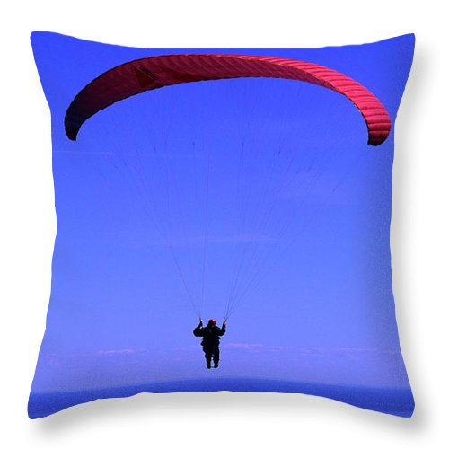 Hang Glider Throw Pillow featuring the photograph Flight Of Fantasy by Bob Christopher