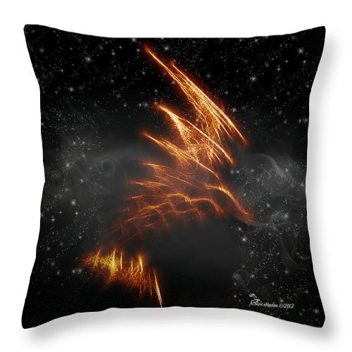 Eagle Throw Pillow featuring the digital art Flight Of The Eagle - Featured In Comfortable Art And Spect Artworks Notecard Possibilities by Ericamaxine Price
