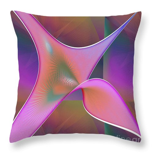 Abstract Throw Pillow featuring the digital art Floating Scarf by Iris Gelbart