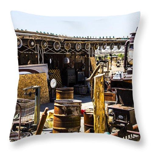 Bottleneck Ranch Throw Pillow featuring the photograph Flood by Angus Hooper Iii