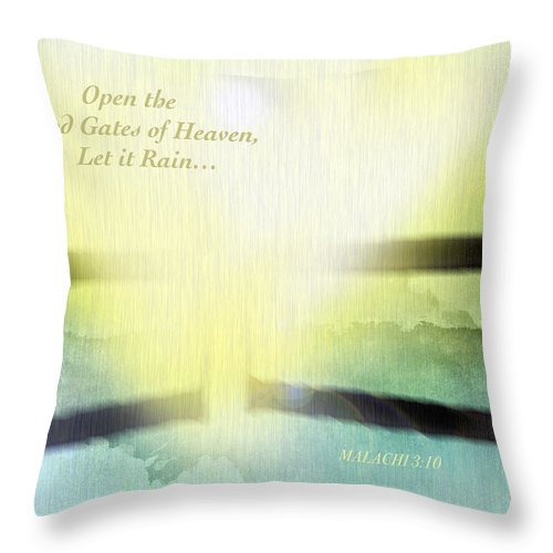 Gates Throw Pillow featuring the photograph Flood Gates Of Heaven by Debbie Nobile
