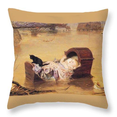 John Everett Mailas Throw Pillow featuring the digital art Flood by John Everett Mailas