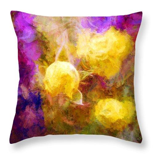 Flowers Throw Pillow featuring the digital art Floral Art Xxxxv by Tina Baxter
