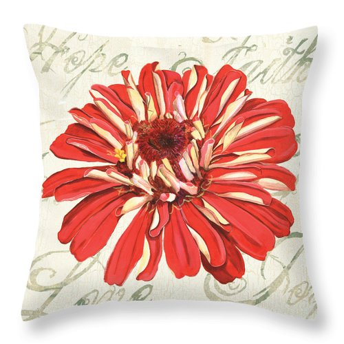 Floral Throw Pillow featuring the painting Floral Inspiration 1 by Debbie DeWitt