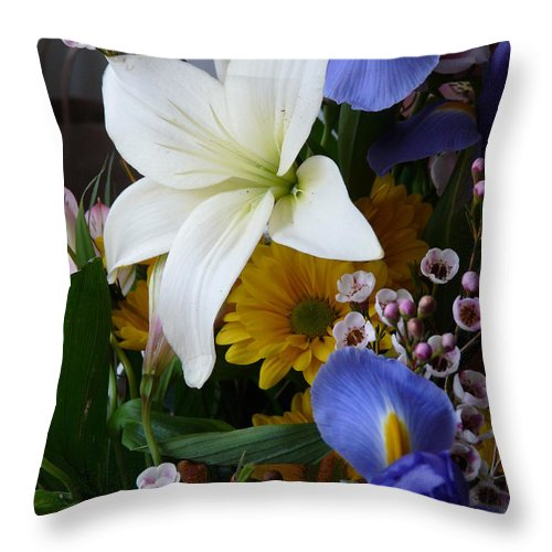 Floral Throw Pillow featuring the photograph Floral Rhapsody by Avis Noelle