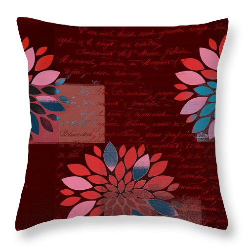 Flowers Throw Pillow featuring the digital art Floralis - 833 by Variance Collections