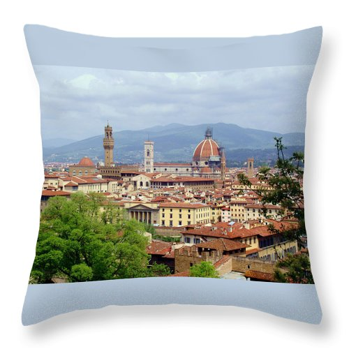 Florence Throw Pillow featuring the photograph Florence by Ellen Henneke