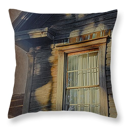 Window Throw Pillow featuring the photograph Florida Cracker House by Judy Hall-Folde
