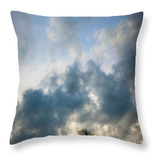 Florida Throw Pillow featuring the photograph Florida Fire by Clay Townsend