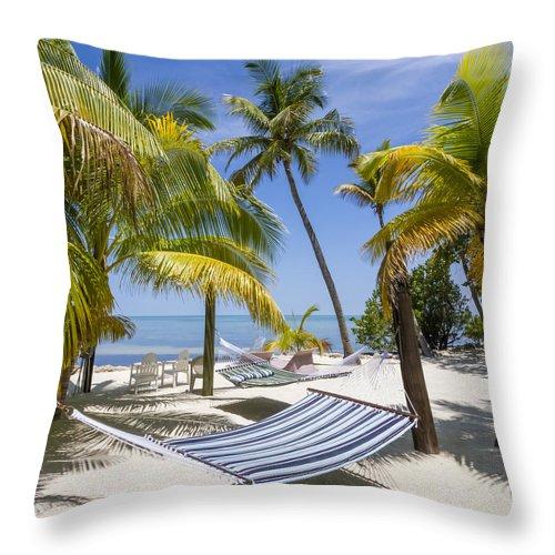 America Throw Pillow featuring the photograph Florida Keys Wellness by Melanie Viola