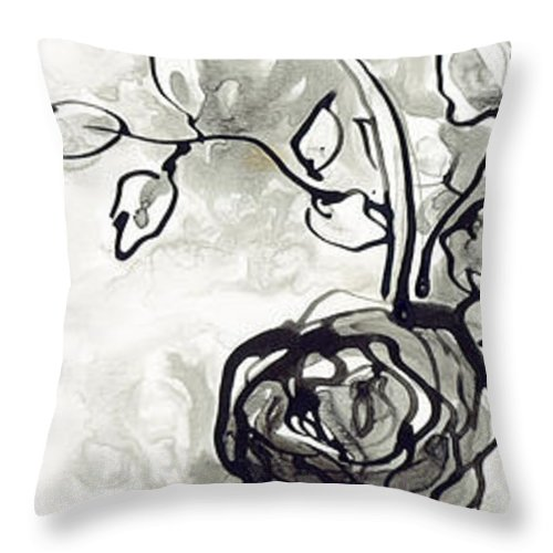 Rose Throw Pillow featuring the painting Flourish by Holly Carton