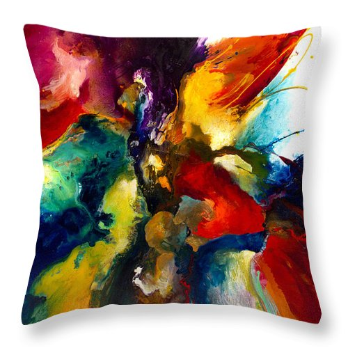 Abstract Throw Pillow featuring the painting Flourish IIi by Jonas Gerard