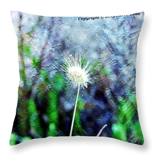 Flowers Throw Pillow featuring the photograph Flower As A Painting by Karl Rose