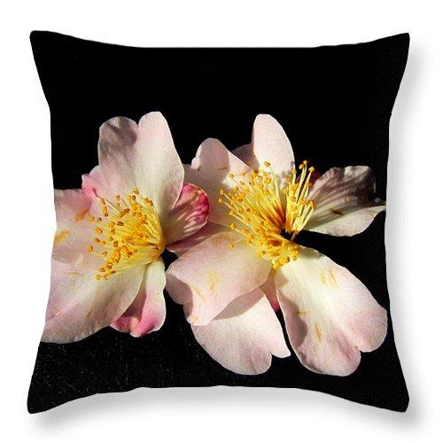 Flower Throw Pillow featuring the photograph Flower Azalea. by Joyce Woodhouse