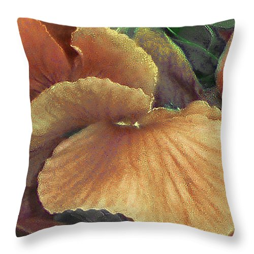 Flower Throw Pillow featuring the photograph Flower Fantasy Three by Muriel Levison Goodwin