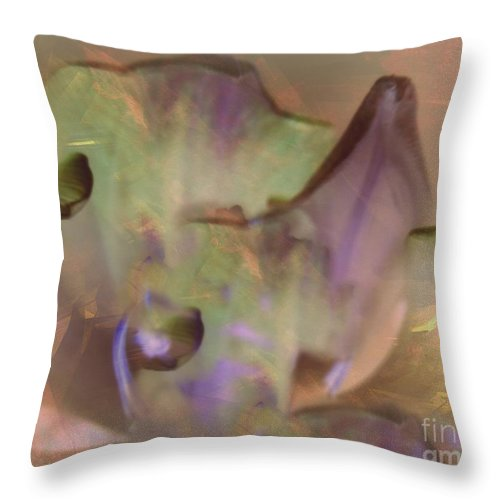Flower Throw Pillow featuring the photograph Flower Garden Abstract by Renee Trenholm