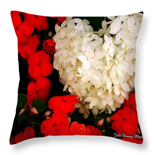 Photography Throw Pillow featuring the photograph Flower Of My Heart by Jale Fancey