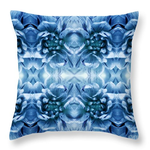 Flower Throw Pillow featuring the photograph Flower Petals by Ian Hooton
