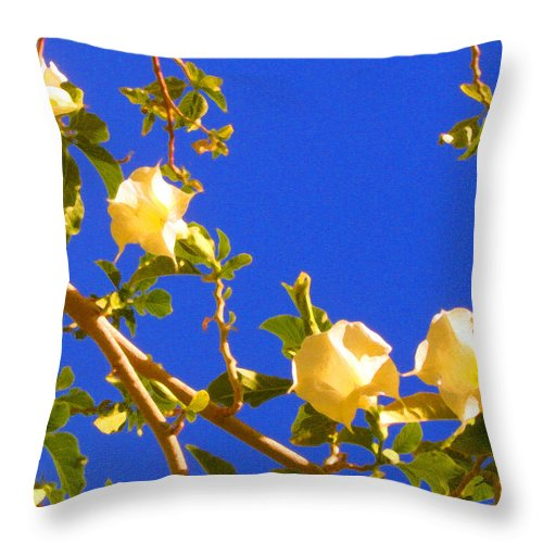 Landscapes Throw Pillow featuring the painting Flowering Tree 1 by Amy Vangsgard